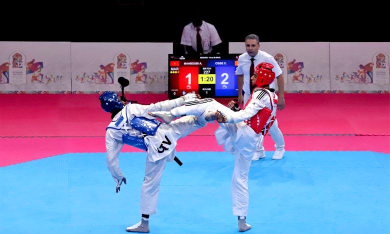 Le Marocain Achraf Mahboubi avait, déjà, décroché la médaille d'argent dans la catégorie de moins de 80 kg du tournoi de taekwondo à Rome en Italie. Ph : MAP