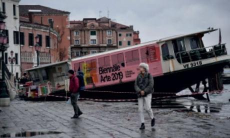 Nouveau pic de marée haute à Venise