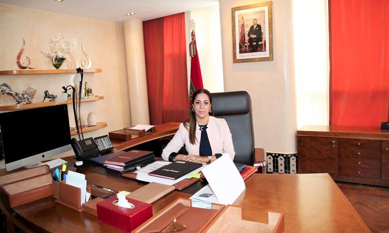 Nouzha Bouchareb, ministre de l'Aménagement du territoire national, de l'Urbanisme, de l'Habitat et de la Politique de la ville. Ph : MAP