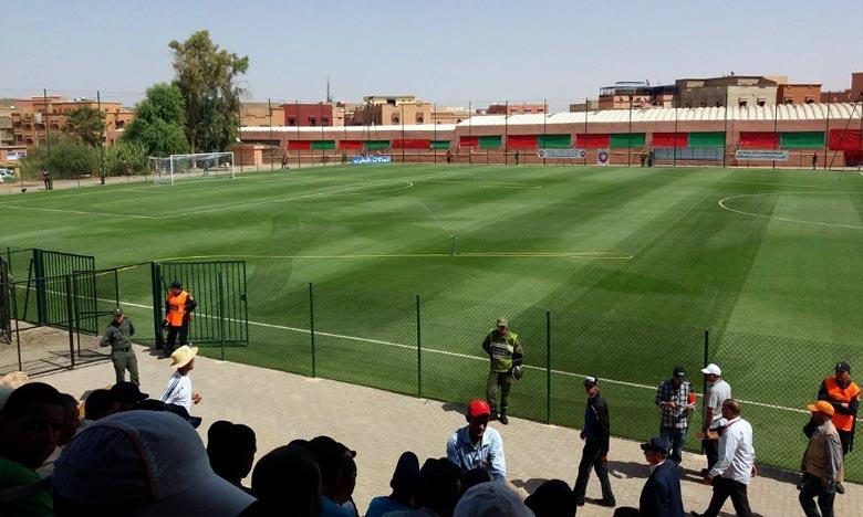 Ces actes ont été commis par des supporters du Kawkab Athlétique Club de Marrakech (KACM) qui n'ont pas pu accéder au stade municipale de Benguérir . Ph : DR