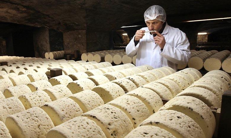 Parmi les produits qui pourraient être surtaxés figurent de nombreux fromages dont le Roquefort. Ph : DR