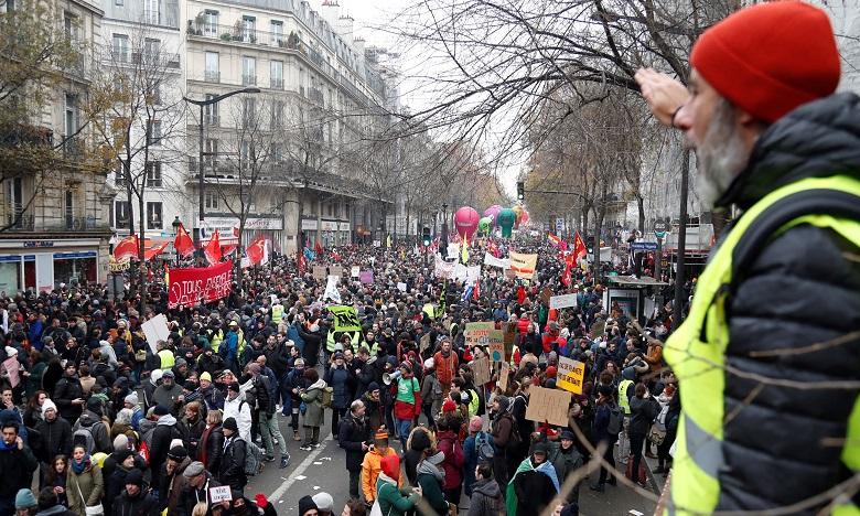 Dans l'après-midi, on comptait plus de 285.000 manifestants dans une trentaine de villes. Ph. AFP