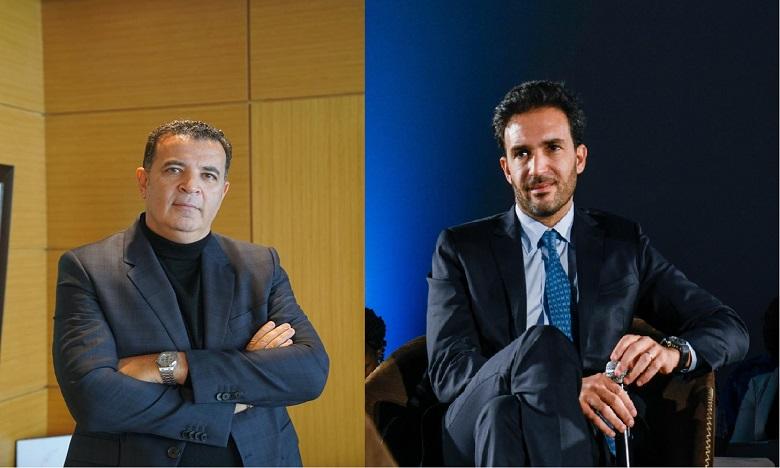 De gauche à droite : Chakib Alj et Mehdi Tazi.
