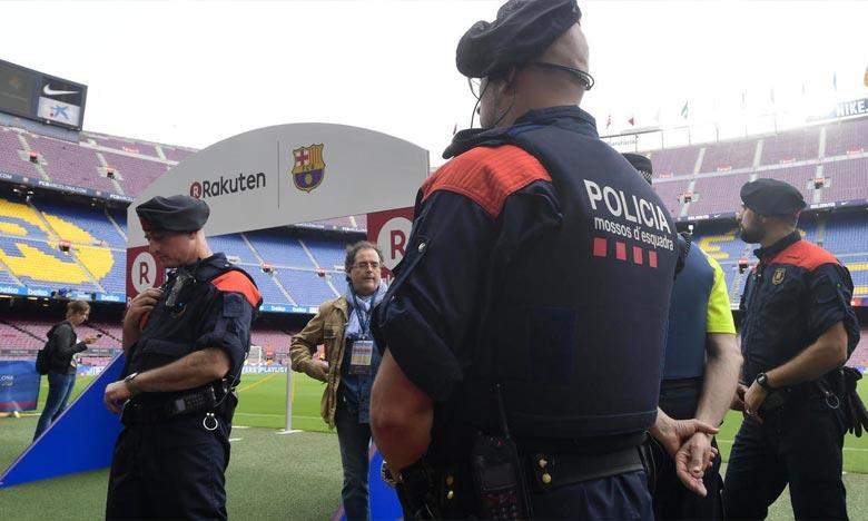 Les autorités de Catalogne ont annoncé une sécurité renforcée pour le Clasico qui se tiendra au Camp Nou, quelque 3.000 agents de police et de sécurité privée seront mobilisés. Ph : AFP