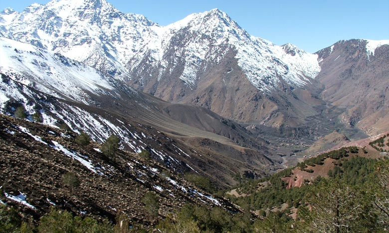 La DMN prévoit pour la journée de ce mercredi, des chutes de quelques flocons de neige sur les sommets des Haut et Moyen Atlas. Ph : DR