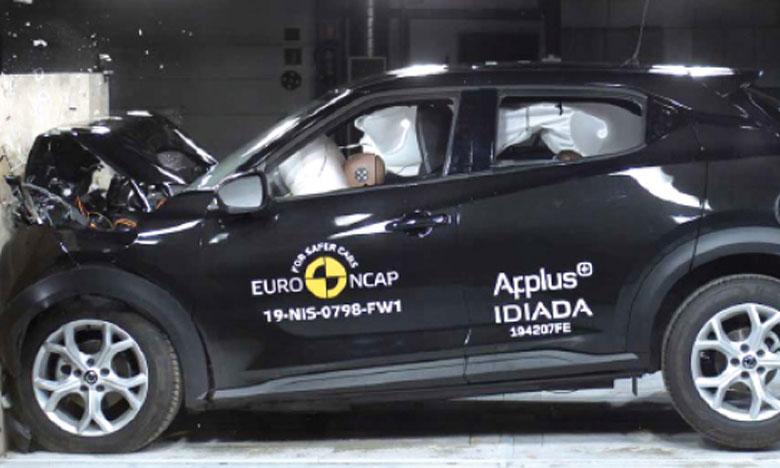 Les tests Euro NCAP ont été effectués avec une version DIG-T 117 N-Connecta, mais les résultats sont valables pour tous les nouveaux Juke.