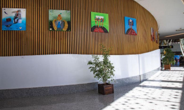 Plus de 80 oeuvres d'art présentées dans les aéroports de Marrakech  et Rabat