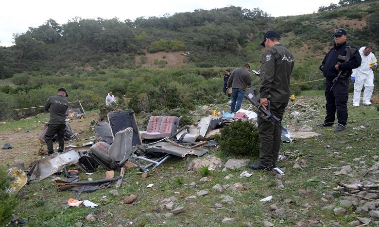L'accident est survenu dimanche lorsque l'autocar est sorti de la route et a chuté dans un ravin. Ph. AFP