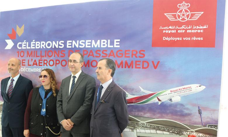 L'Aéroport Mohammed V franchit le cap des 10 millions de passagers en 2019