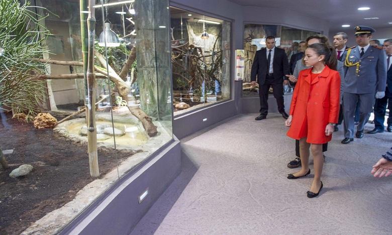 S.A.R. la Princesse Lalla Khadija préside la cérémonie d'inauguration du vivarium du Jardin zoologique national de Rabat. Ph : MAP