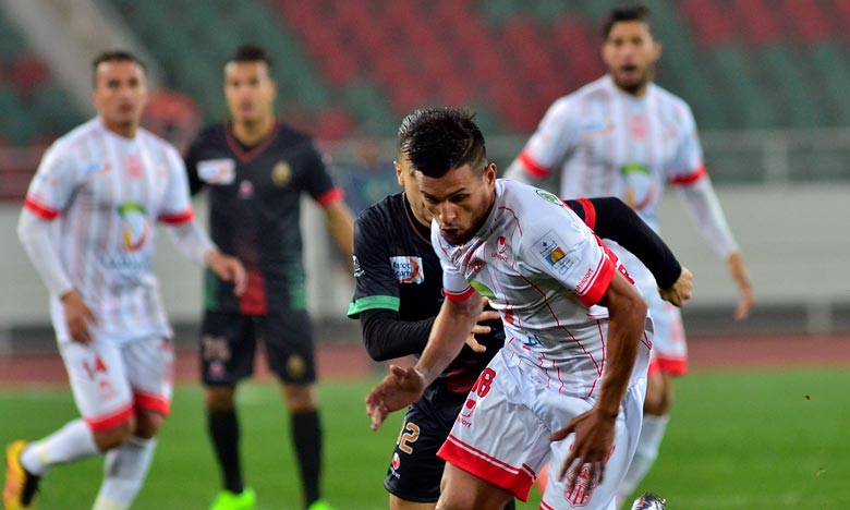 Grâce à sa deuxième victoire, le Hassania Union Sport d'Agadir (HUSA) conforte sa place de leader du groupe D avec 6 points au terme de la journée. Ph : Seddik