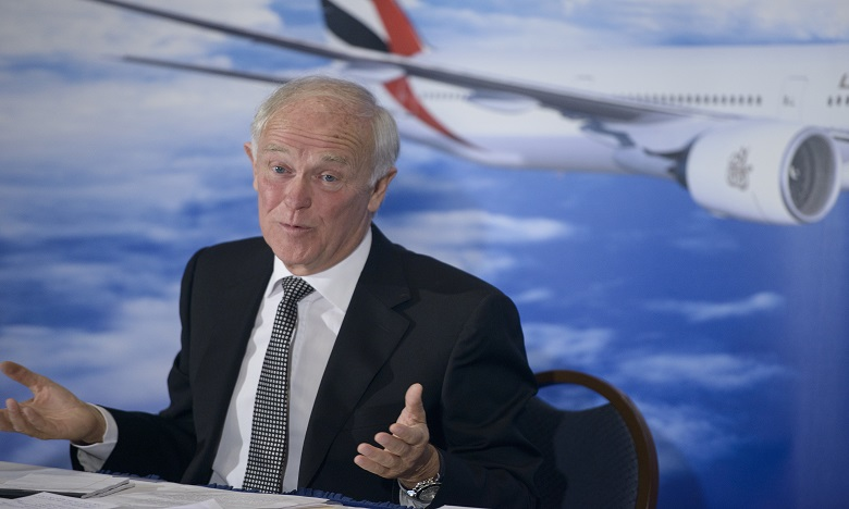 Tim Clark, 70 ans, avait rejoint Emirates en 1985, aux tout débuts de la compagnie aérienne. Ph. AFP
