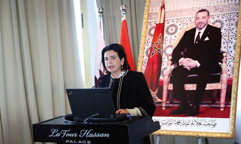 Farida El Khamlichi, présidente de la Commission nationale du droit international humanitaire.