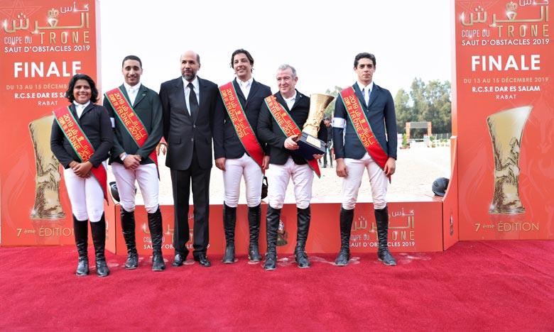 Le club Etrier de Casablanca (B) a remporté le titre du 7e Coupe du Trône des clubs de saut d'obstacles, dont la finale a été disputée au Royal complexe des sports équestres et tbourida de Dar Es-Salam à Rabat. Ph : MAP