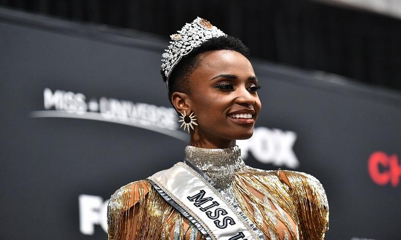 Zozibini Tunzi, la gagnante de Miss univers 2019. Ph: AFP
