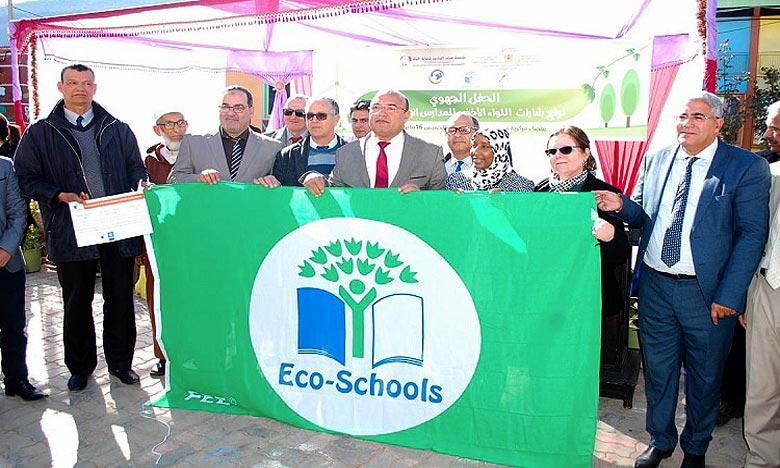 Depuis son lancement, près de 200 écoles adhèrent à ce programme au niveau de la région Marrakech-Safi, dont 44 écoles ont hissé le «Pavillon Vert». Ph : DR