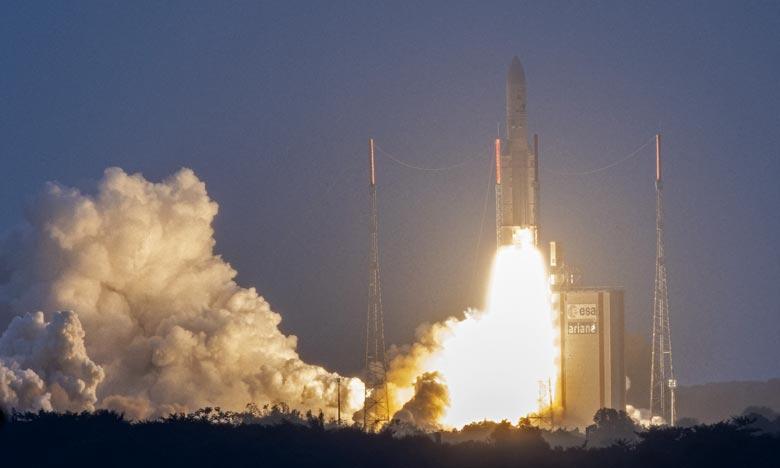«Un nombre record de lancements» sera poursuivi cette année, Ce premier lancement réussi ouvre une année particulière pour la filière Ariane». Ph :  AFP