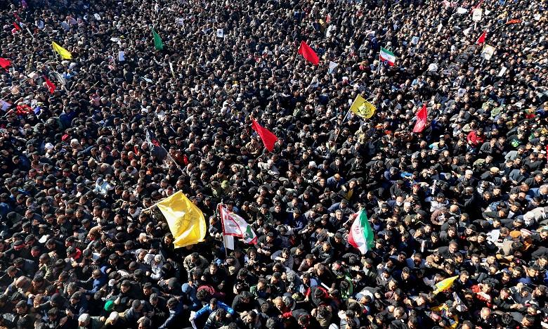 Une foule monstre a pris part aux funérailles du général Qassem Soleimani. Ph. AFP