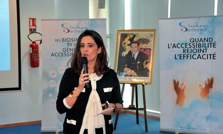 Lamia Tazi conservera également sa fonction de directeur général et de pharmacien responsable. Ph : DR