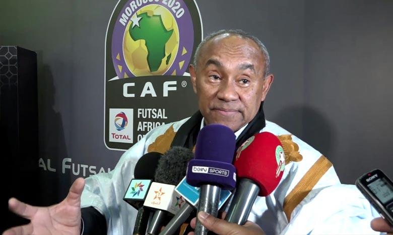 Ahmad Ahmad a remercié les autorités et les responsables marocains pour la mobilisation des moyens nécessaires en vue de l'accueil de cette grande compétition africaine. Ph : DR