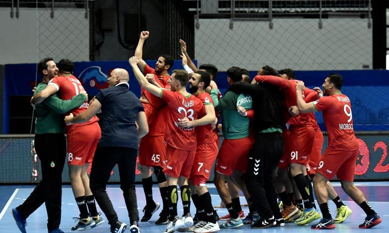 Le Maroc a terminé à la 6e place de la Coupe d'Afrique des nations de handball (Tunisie-2020) à l'issue du match de classement qui l'a opposé au Cap Vert, samedi à Hammame. Ph : MAP