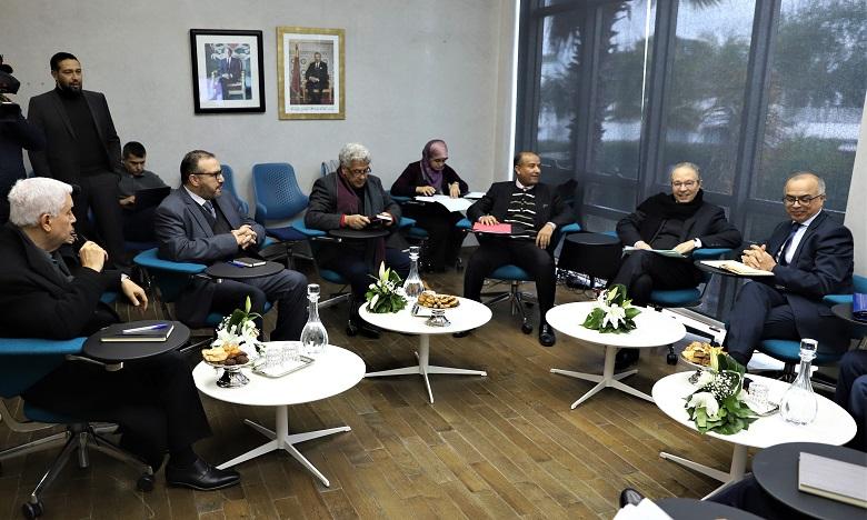 Le HCP a été représenté par le Haut-commissaire au plan, Ahmed Lahlimi Alami, ainsi que par son SG, Ayach Khallaf. Ph. MAP