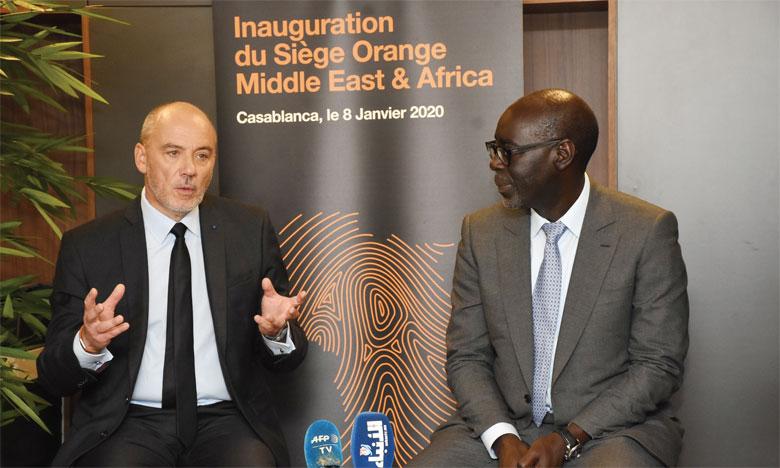 Tout le Comex d'Orange a fait le déplacement, le 8 janvier, lors de l'inauguration du siège d'Orange Middle East and Africa, situé dans l'imposante tour de Casablanca Finance City. Ph. Saouri