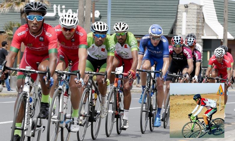 Le cycliste marocain Adi El Arbaoui, 2e aux points chauds, est arrivé 4e en parcourant les 150 km de l'étape en réalisant le même temps que le troisième. Ph : DR