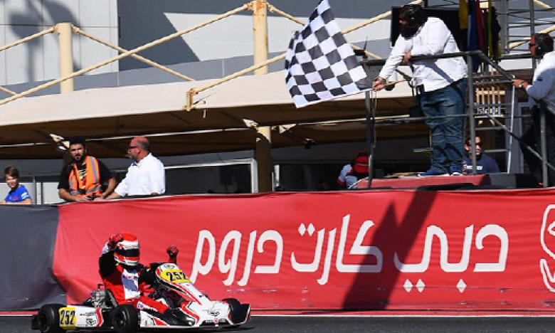 Suleïman Zanfari offre une première victoire  au kart Charles Leclerc à Dubaï