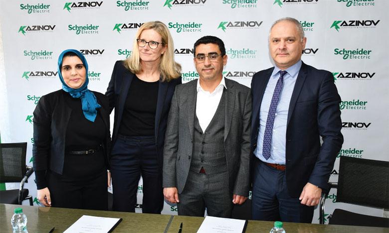 Schneider Electric et Kazinov  sur un projet d'unité d'assemblage