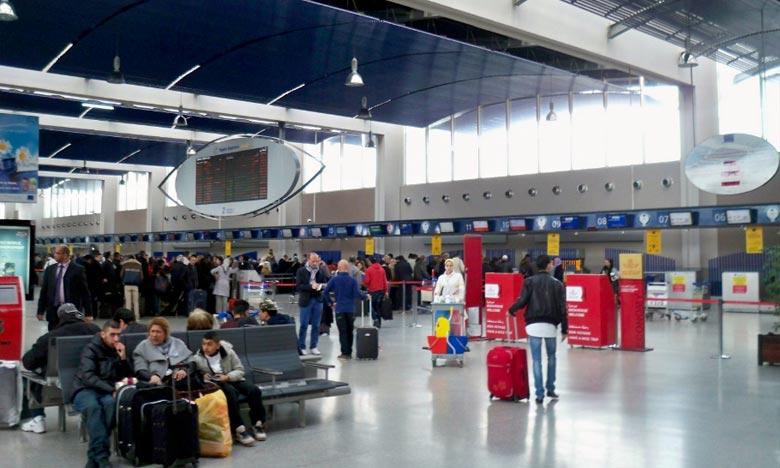 L'aéroport Mohammed V, qui accapare plus de 41% du trafic aérien global, a accueilli 10.306.293 passagers avec une progression de 5,88% environ, c'ets ce qu'a précisé l'ONDA. Ph : DR