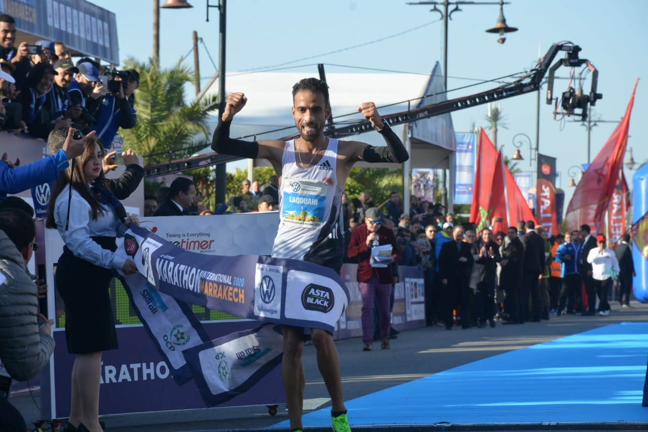 MIM : Hicham Laqouahi remporte l'édition 2020 et pulvérise le record du marathon