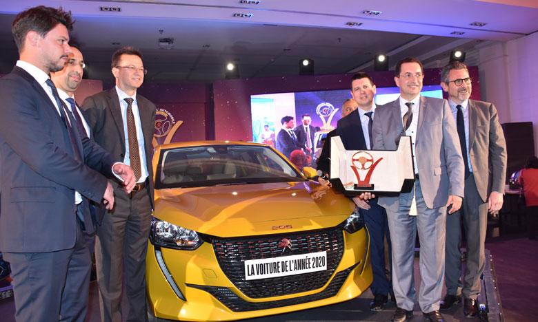 La Peugeot 208 sacrée Voiture  de l'année 2020 au Maroc