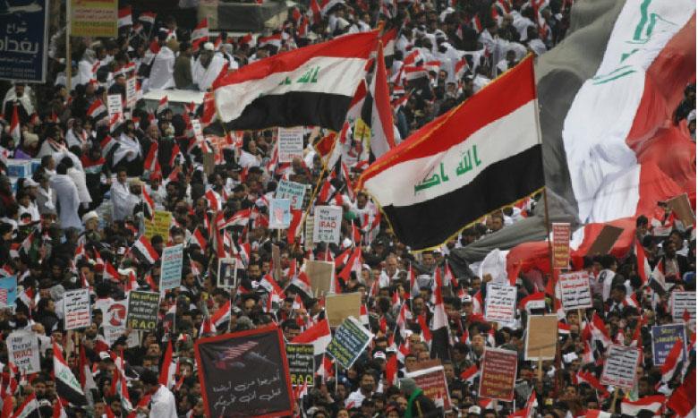 Rassemblement anti-américain à Bagdad