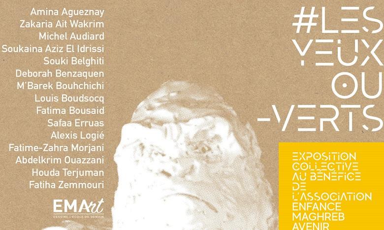 """Les revenus de l'exposition d'art caritative """"Les Yeux OuVerts"""" initiée par l'EMA, seront versés aux enfants nos déscolarisés du CFA Nouacer. Ph: DR"""