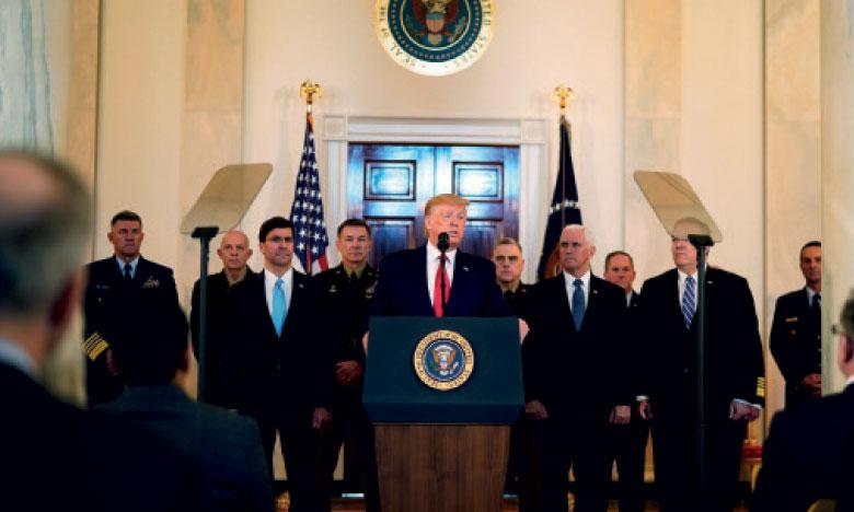 Trump joue l'apaisement, le spectre d'une guerre avec l'Iran s'éloigne