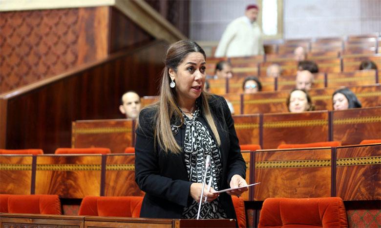 Nouzha Bouchareb répondant à une question orale présentée par le groupement parlementaire du PPS à la Chambre des représentants.