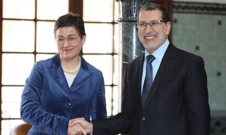 La ministre espagnole des AE, de l'UE et de la coopération s'entretient à Rabat avec le Chef du gouvernement