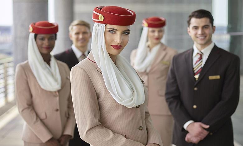 Le personnel de cabine d'Emirates bénéficie d'un «package emploi » très complet, qui comprend plusieurs avantages. Ph. DR