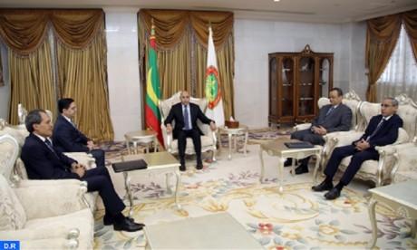 M. Bourita reçu par le président mauritanien