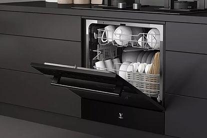 Le nouveau lave-vaisselle de Xiaomi a des dimensions généreuses et un design soigné. Ph: DR