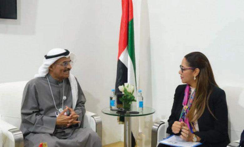 Une série d'entretiens  de Nouzha Bouchareb  à Abou Dhabi