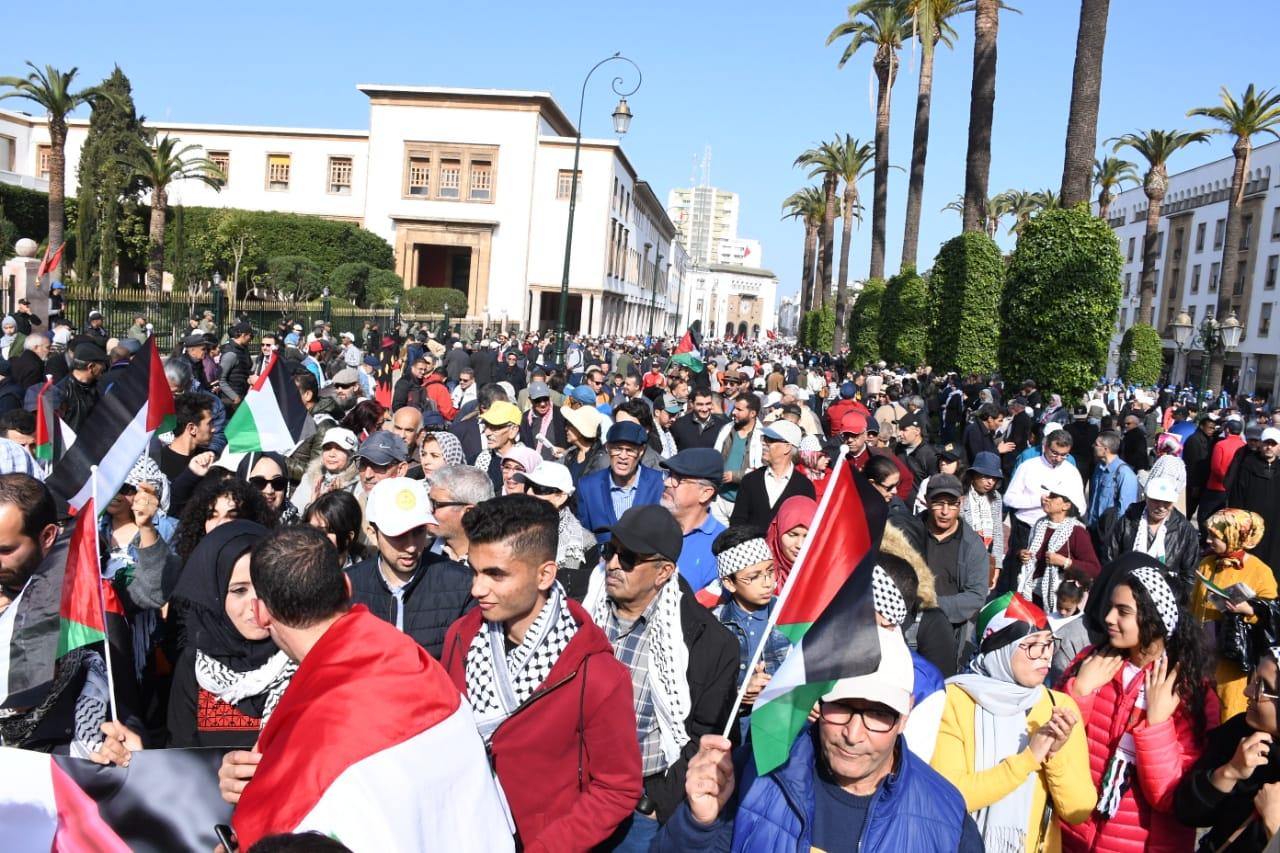 Des milliers de personnes marchent à Rabat en solidarité avec le peuple palestinien