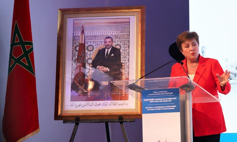 Kristalina Georgieva a souligné que le Maroc s'est engagé de manière constructive dans la prospérité économique et a concentré ses efforts sur la jeunesse et les femmes. Ph : MAP