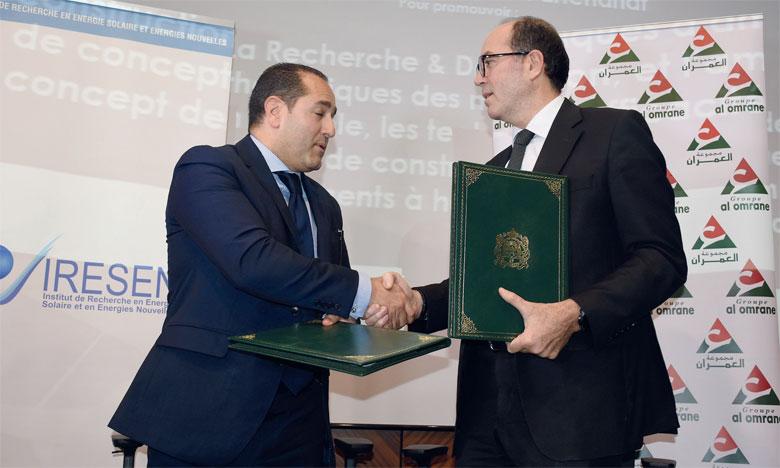 Al Omrane et l'Iresen s'engagent en faveur  de l'innovation