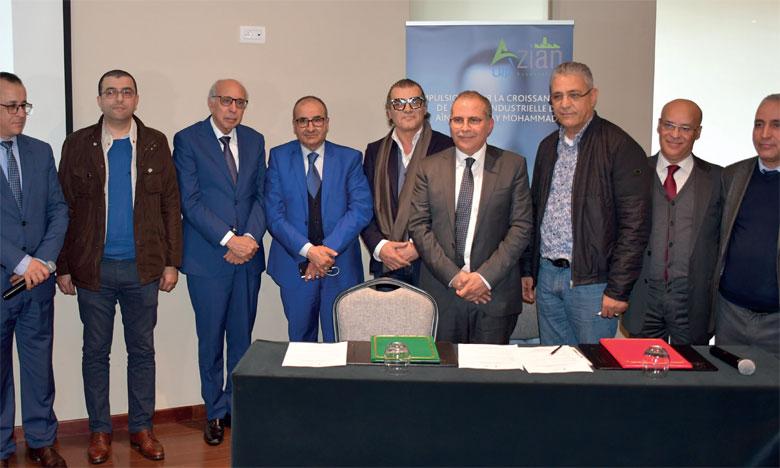 Mohammed Fikrat, président de l'AZIAN : «ce Service est destiné également à fournir un appui opérationnel aux entreprises membres pour la prévention des risques et la protection de l'environnement».                      Ph. SRADNI