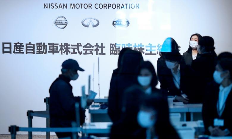 Les actionnaires de Nissan, réunis lors d'une assemblée générale extraordinaire à Yokohama, ont approuvé la nouvelle direction du groupe. Ph : AFP