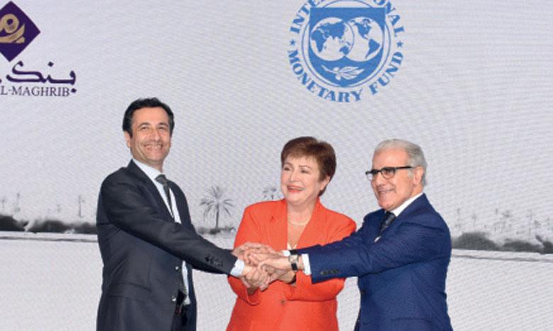 Une rencontre a été organisée, hier à Rabat, marquant la fin de la visite de la DG du FMI au Maroc. Photo KARTOUCHE