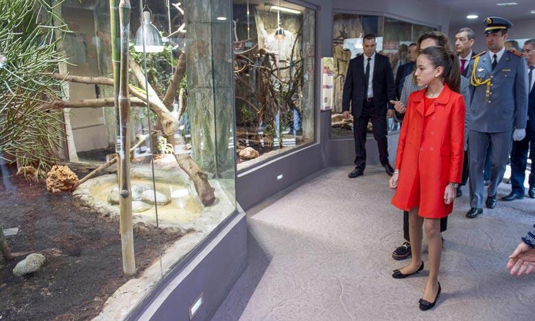 S.A.R. la Princesse Lalla Khadija a présidé la cérémonie d'inauguration du vivarium du Jardin zoologique national de Rabat. Ph : MAP