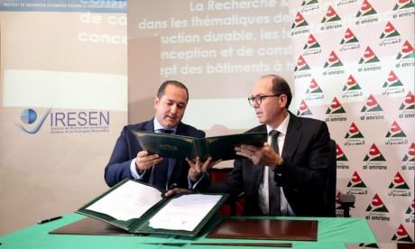 Bâtiment:   Al Omrane et l'Iresen s'engagent en faveur de l'innovation